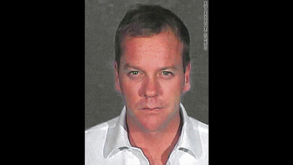 In 2007, Kiefer Sutherland got this mug shot after surrendering to serve a 48-day sentence for his third DUI arrest.