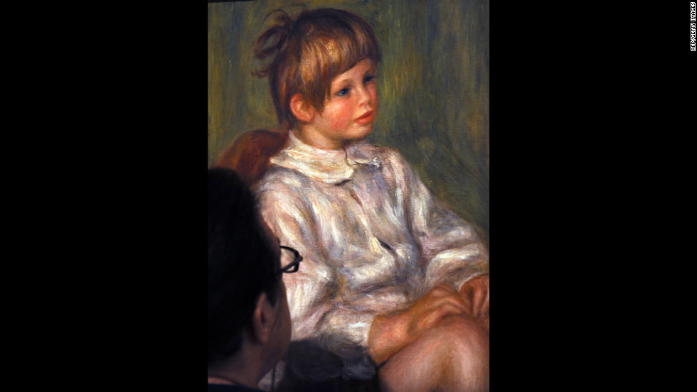 Impressionistic portraits such as this by Pierre-Auguste Renoir may be have particular emotional appeal because of the blurriness or patchiness of the face. Research has shown that blurry images may connect more directly with the emotional centers of the brain than normal ones.