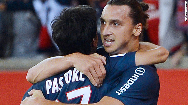 Zlatan Ibrahimovic and teammate Javier Pastore earned Paris Saint Germain a 2-0 win over Toulouse on Friday