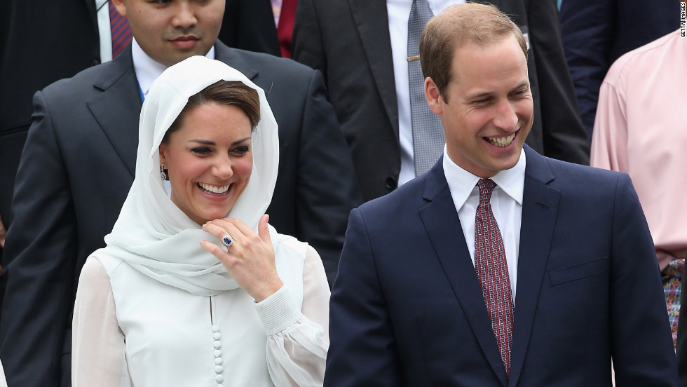Catherine, Duchess of Cambridge, and Prince William, Duke of Cambridge, visit Assyakirin Mosque in Kuala Lumpur, Malaysia, on Friday, September 14, Day Four of the royal couple's tour of the Far East.