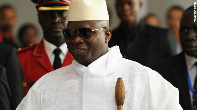 Yahya Jammeh left the country on Saturday.