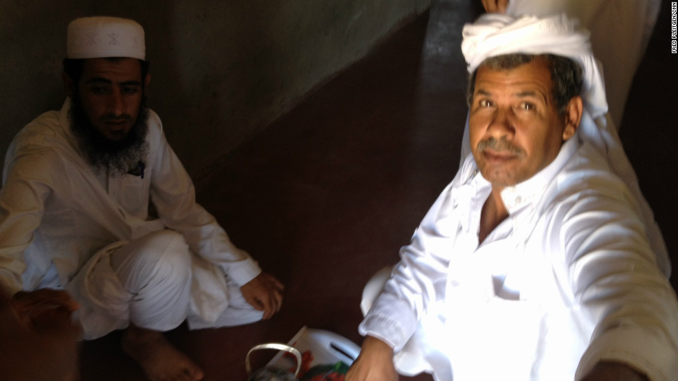 Bedouin Sheiks Mohammed Abu Billal (left) and Ibrahim al Munai have banded together to fight human traffickers who operate torture camps in the Sinai. Their efforts have lead to a significant decrease in people traffickers.
