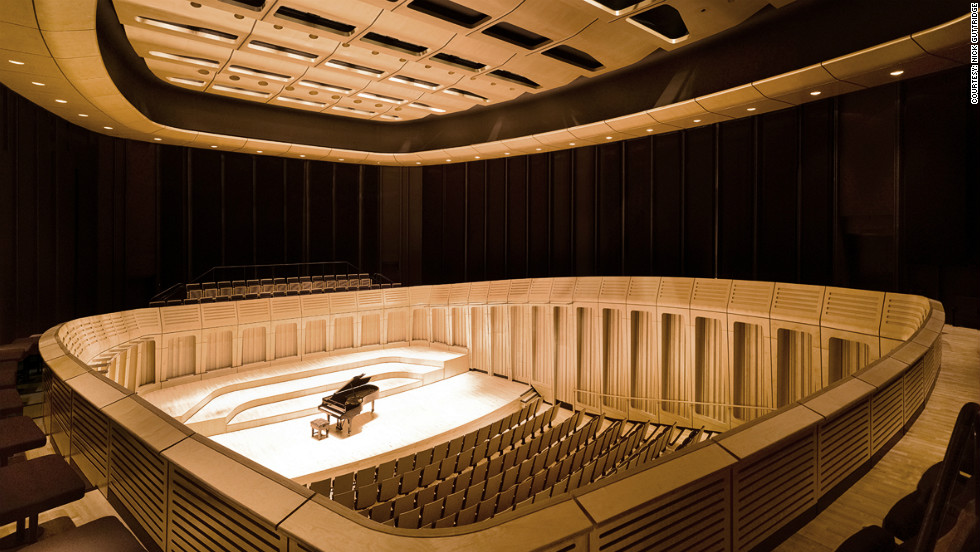 The Royal Welsh College of Music and Drama, which opened to students last year, also utilizes interior panels of timber cladding as part of its $37m refurbishment. <br /><em>Designed by: BFLS, UK</em>
