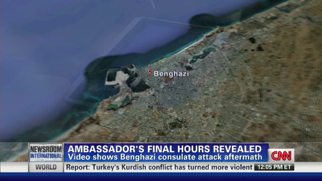 Video shows U.S. ambassador's final hours
