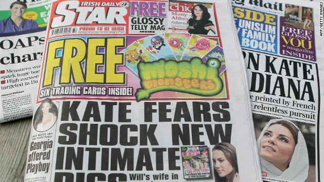 The Irish Daily Star on September 15 featured the topless pictures of the Duchess of Cambridge.