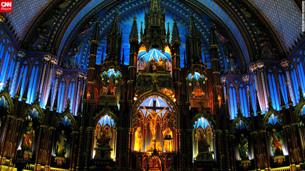 "Doug Simonton sent in several images of his favorite buildings taken over the past two years including this picture of Notre Dame Basilica, Montreal. He says most of the images he took are of buildings that ""either represent key moments in history or have an incredible beauty."""