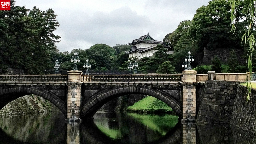 "Wilson A. Neto says he was in awe when he saw the Imperial Palace in Tokyo, Japan. ""There were several moats leading to the main entrance with large trees manicured to look like bonsai trees,"" he says. ""Everyone was just admiring it and taking it all in."""