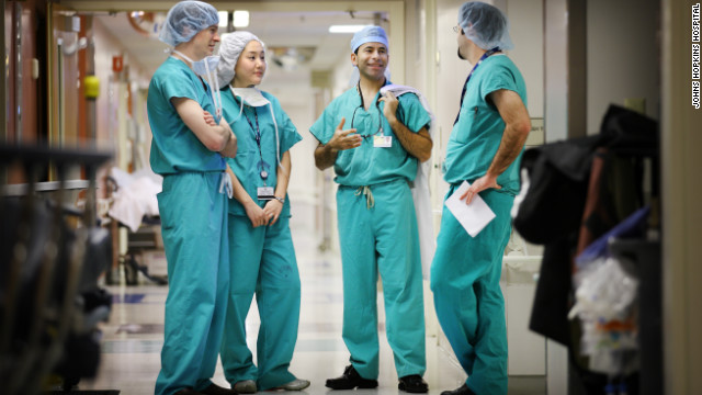 Surgeon and author Marty Makary (second from right) with colleagues at Johns Hopkins Hospital.