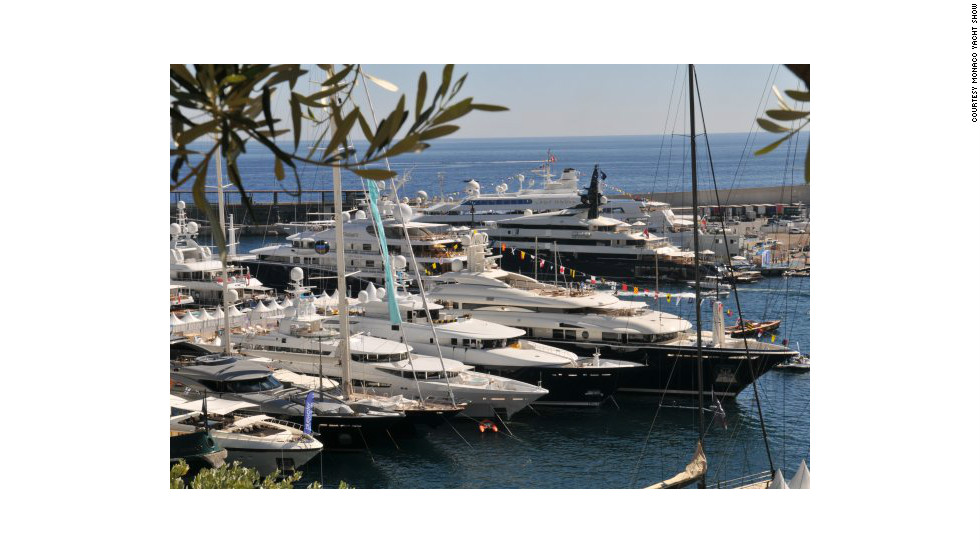 More than 100 superyachts will go on display at Port Hercules for the annual Monaco Yacht Show.