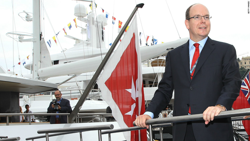 Prince Albert of Monaco helped open the yacht show last year. His principality offers the super rich an attractive 0% rate of income tax.