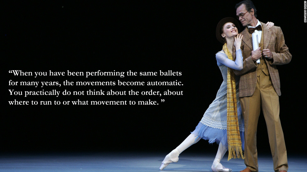 "Svetlana Zakharova: ""When you have been performing the same ballets for many years, the movements become automatic. You practically do not think about the order, about where to run to or what movement to make."""