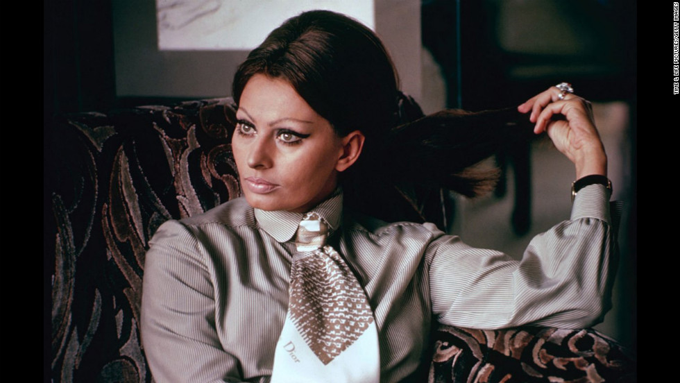 "Sophia Loren, 1964. <a href=""http://life.time.com/icons/sophia-loren-rare-and-classic-portraits/"" target=""_blank"">See the complete gallery on LIFE.com.</a>"