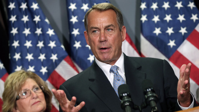 House Speaker John Boehner tried to bring GOP campaign focus back to the economy.