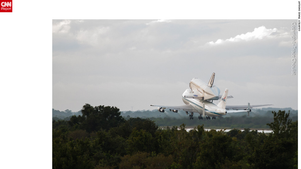 "Onlookers shared their <a href=""http://ireport.cnn.com/topics/1309/featured#stories"">best photos</a> of space shuttle Endeavour's final flight with <a href=""http://ireport.cnn.com/topics/1309/featured#stories"">CNN iReport</a>. Here, the shuttle <a href=""http://ireport.cnn.com/docs/DOC-843919"">leaves Florida's Kennedy Space Center</a> atop a 747 the morning of Wednesday, September 19, 2012."