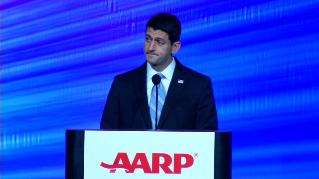 Ryan gets mixed reviews at AARP meeting