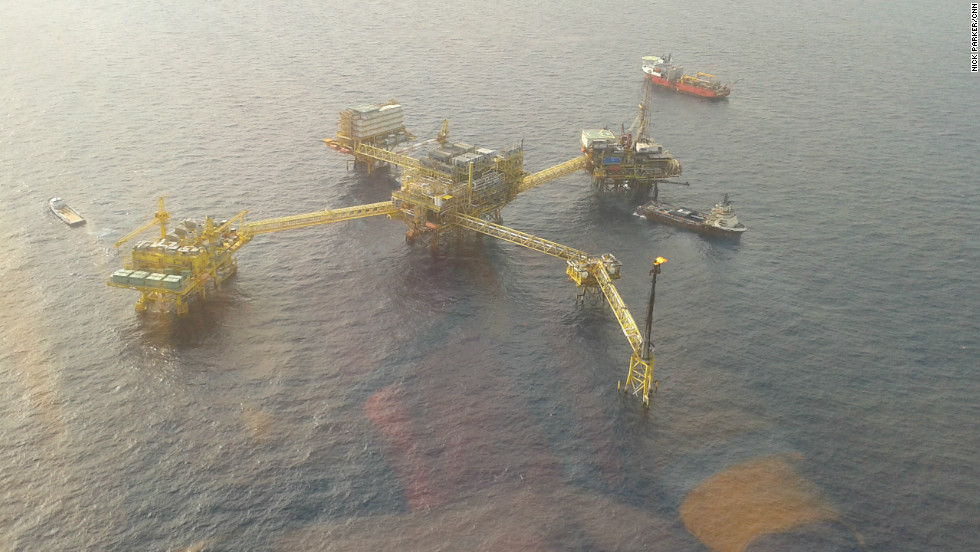 One of the massive Supergiants still operating off Mexico in what is currently Mexico's most productive oil field.