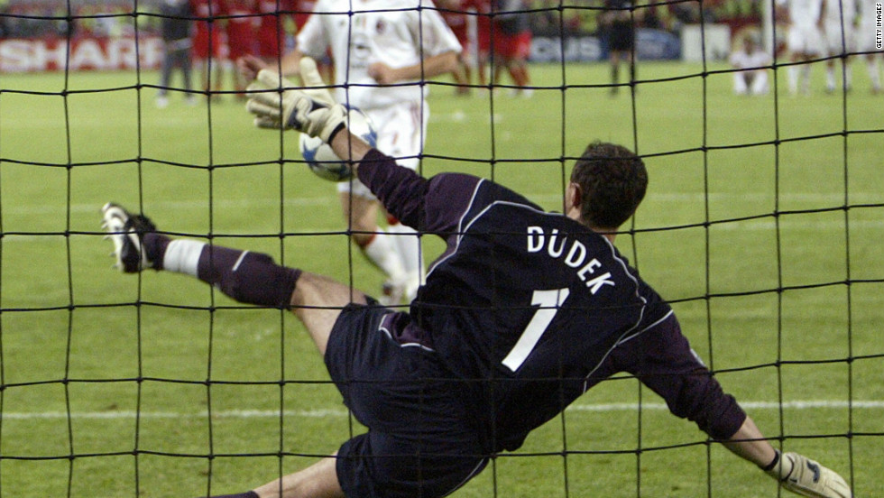 Liverpool pulled off a shock of their own in 2005. At half-time against Italian giants AC Milan in Istanbul, Rafael Benitez's Liverpool found themselves 3-0 down. During an incredible second half, Liverpool scored three times before sealing a fifth European triumph when goalkeeper Jerzy Dudek saved Andriy Shevchenko's penalty in a shootout.
