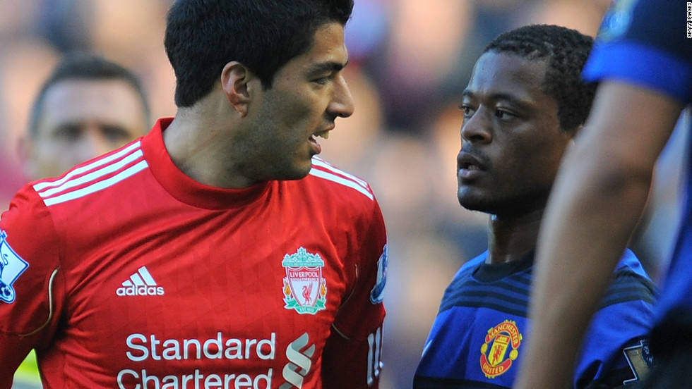 Liverpool's Uruguayan striker Luis Suarez served an eight-match ban in the 2011/12 season for racially abusing Manchester United defender Patrice Evra. Suarez maintained his innocence but Liverpool were heavily criticized for their handling of the case.