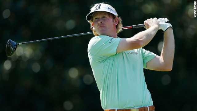 Brandt Snedeker tees off on his way to his six-under 64 at East Lakes in the Tour Championship.