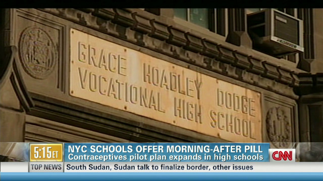 NYC schools offer the morning-after pill