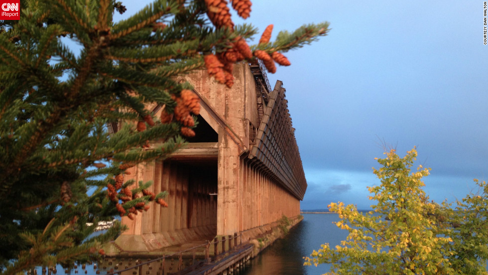 "Dan Walton <a href=""http://ireport.cnn.com/docs/DOC-847017"">used his iPhone 4S</a> during the late evening to capture this image of an iron ore dock in Marquette, Michigan."