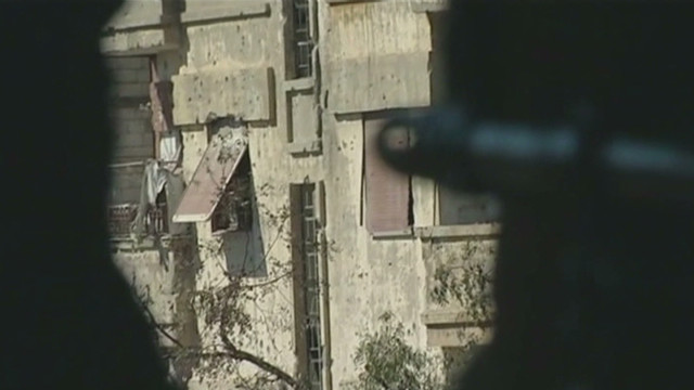 View from Syrian army snipers in Homs
