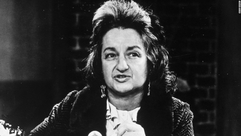 Author Betty Friedan became an icon of the women's liberation movement after publishing The Feminine Mystique in 1963, one of the first books to analyze the role of women in American society and raise issues of emancipation.