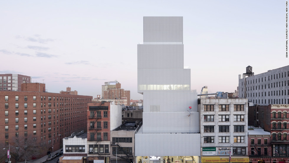 """Rose II,"" a 28-foot-tall sculpture by German artist Isa Genzken on display at the New Museum in New York. Over the past seven years, around 46% of the New Museum's solo shows have been by women."