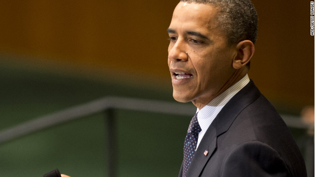President Barack Obama delivers his address during the 67th United Nations General Assembly meeting Tuesday in New York.
