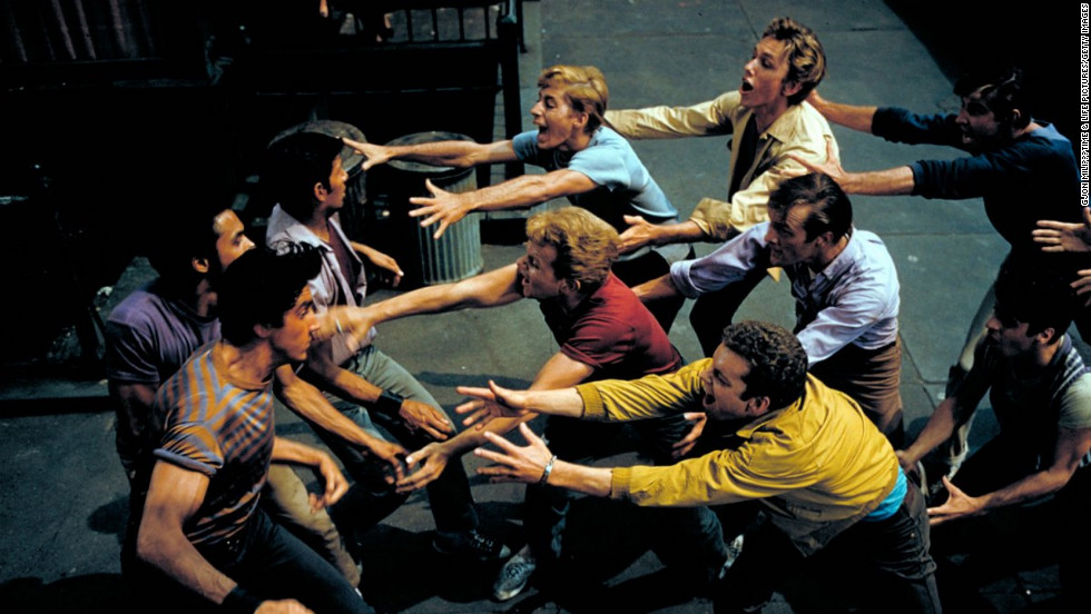 "A scene from the set of the 1961 movie, ""West Side Story."" <a href=""http://life.time.com/culture/west-side-story-photos-from-the-set-of-a-hollywood-classic/#1"" target=""_blank"">See the full gallery on LIFE.</a>"