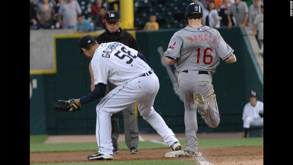 Baseball umpire Bill Joyce admittedly blew a call at first base, robbing the Detroit Tigers' Armando Galarraga of a perfect game vs. the Cleveland Indians in 2010. Joyce wept when he met Galarraga at home plate before the next day's game.