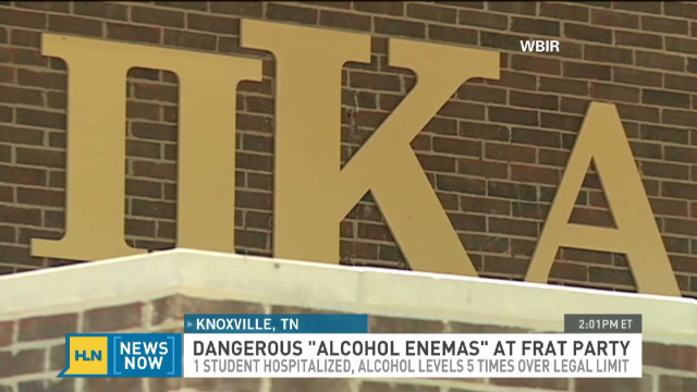 Student denies alcohol enema hazing