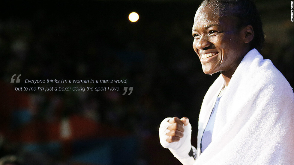 "Nicola Adams: ""Everyone thinks I'm a woman in man's world, but to me I'm just a boxer doing the sport I love."""