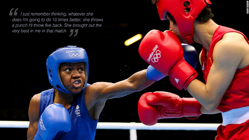 "Nicola Adams: ""I just remember thinking, whatever she does I'm going to do it 10 times better; she throws a punch I'll throw five back. She brought out the very best in me in that match."""