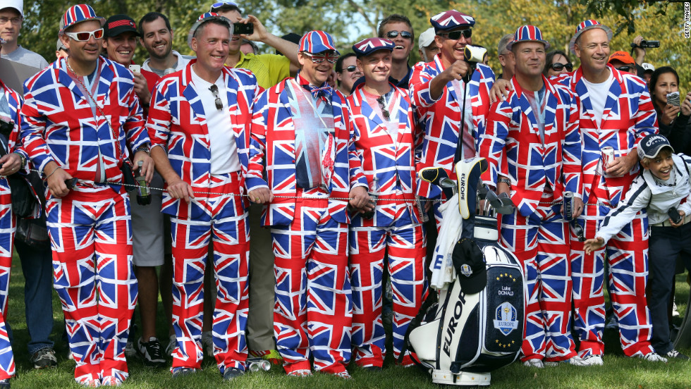 British fans wear their loyalties on their sleeves Wednesday, September 26.