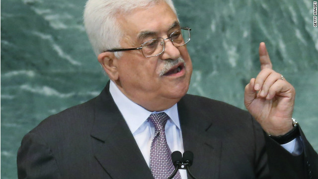 Mahmoud Abbas, President of the Palestinian Authority, addresses the United Nations General Assembly on September 27, 2012 in New York City. The 67th annual event gathers more than 100 heads of state and government for high level meetings on nuclear safety, regional conflicts, health and nutrition and environment issues