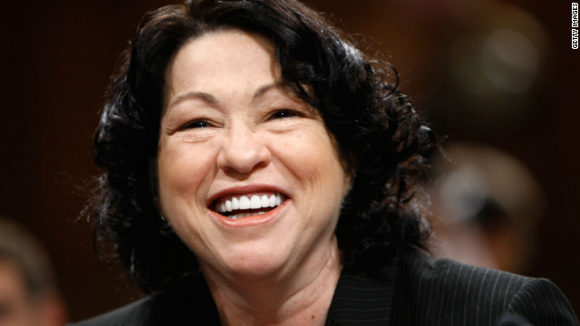 Justice Sonia Sotomayor was appointed to the U.S. Supreme Court in 2009.