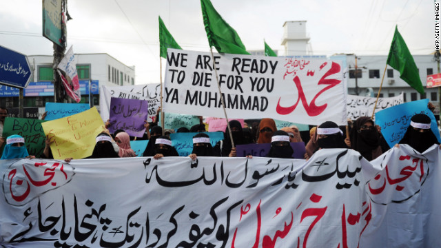 Pakistanis protest this week in Karachi against an anti-Islam video made in the United States.