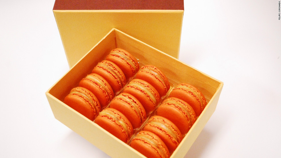 "Pastry chef Francois Payard created pumpkin macarons specifically for fall. ""Everyone associates fall with pumpkins, so I always love making some sort of pumpkin dessert,"" said Payard."