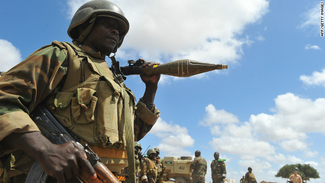 African Union forces pictured in Somalia's Lower Shebelle region on September 13, 2012.