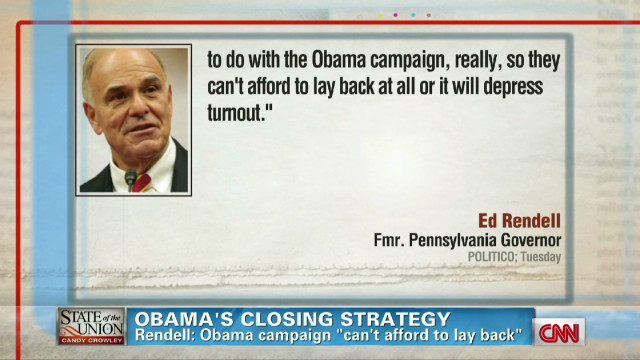 Axelrod on Obama's closing strategy