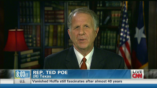 Rep. Ted Poe on upcoming debate