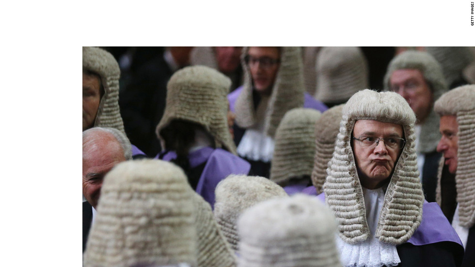 Judges congregate in London's Westminster Abbey before their Annual Service of Thanksgiving on Monday, marking the start of the legal year.