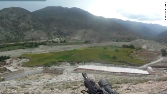 Helmet cam captures Afghan firefight