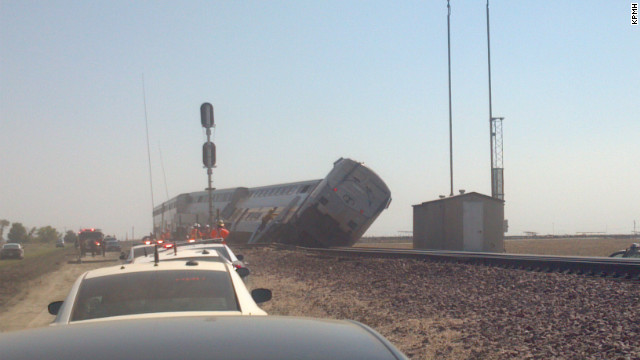 Amtrak Train 712 was traveling south from Oakland to Bakersfield, California when it collided with a big rig, Monday.
