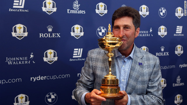 European captain Jose Maria Olazabal won the Ryder Cup three times as a player.