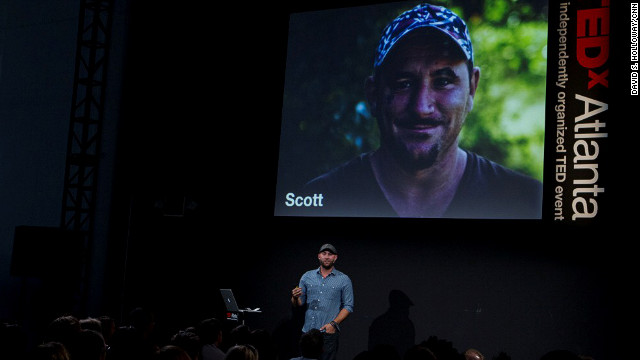 Brian Preston received a standing ovation at TedxAtlanta after sharing the story of his carpentry business, Lamon Luther.