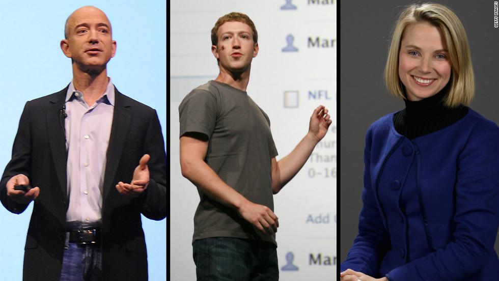 Jeff Bezos (from Left), Mark Zuckerberg And Marissa Mayer. Do They Have