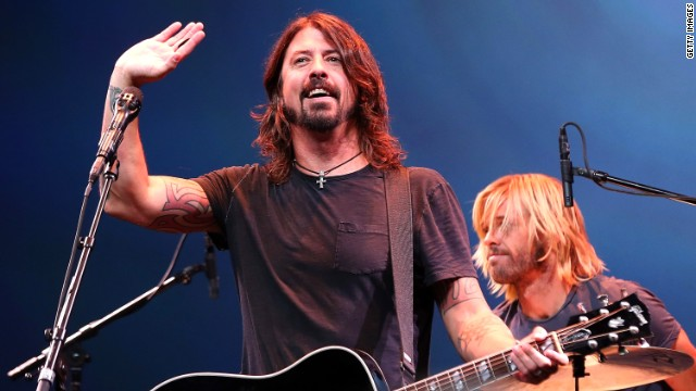 "Dave Grohl and the Foo Fighters have been playing on David Letterman's ""Late Show"" all week."