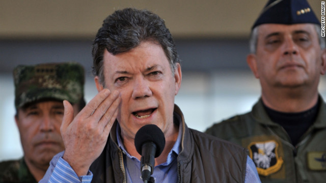 Colombian President Juan Manuel Santos says he has prostate cancer but it can be treated.